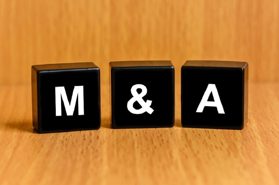 M&A Scrabble pieces